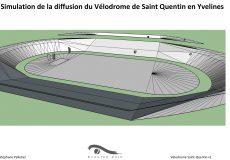 Simulation de la diffusion du Vélodrome de Saint Quentin en Yvelines